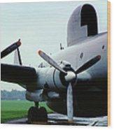 Lockheed Ec-121d Warning Star, Early Warning Aircraft Wood Print
