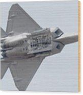 Lockheed Martin F-22a Raptor 05-4098 Luke Afb Arizona March 19 2011 Wood Print