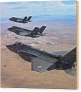 Lockheed Martin F-35 Lightning II Wood Print