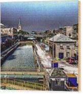 Lockport Canal Locks Wood Print