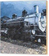 Locomotive 495 A Romantic View Wood Print