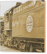 Locomotive And Coal Car Of Yesteryear Wood Print