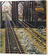 Locomotive Tracks Wood Print