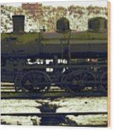 Locomotive Vector Wood Print