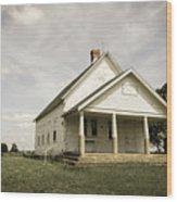 Locust Prairie One Room School Aged Wood Print