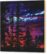Lodge Sunset Wood Print