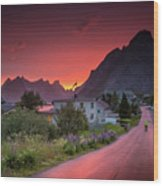 Lofoten Nightlife  Wood Print