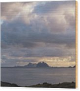 Lofoten Sunset 4 Wood Print