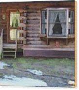 Log Cabin 1 Wood Print