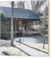 Log Cabin 2 Wood Print