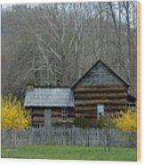 Log Cabin Wood Print
