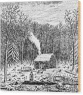 Log Cabin, C1800 Wood Print