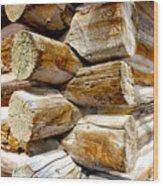 Log Cabin Corner Wood Print