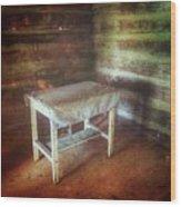 Log Cabin Table Wood Print