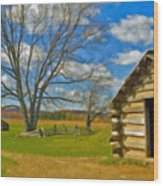 Log Cabin Valley Forge Pa Wood Print