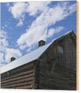 Log Clydesdale Barn Wood Print