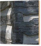 Log Corner Wood Print by Murray Bloom
