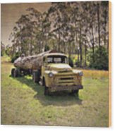 Log Mover Wood Print