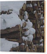 Log Row Wood Print