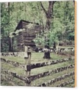 Log Structure For Storage Wood Print