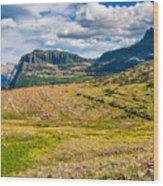 Logan Pass Panorama Wood Print