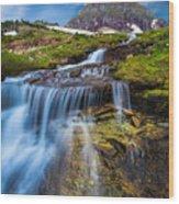 Logan Pass Stormclouds Wood Print