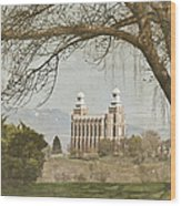 Logan Temple  Wood Print