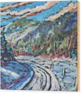 Loggers Road  Wood Print