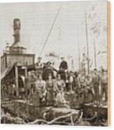 Logging, Clemons Camp No. 3 No. 1, Circa 1920 Wood Print