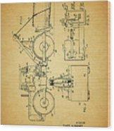 Logging Truck Patent Wood Print