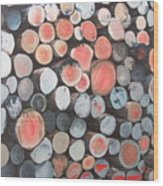 Logpile Wood Print