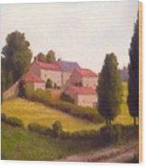 Loire Valley Apres Midi Wood Print