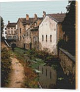 Loire Valley Village Scene Wood Print
