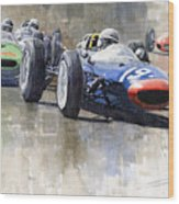 Lola Lotus Cooper Ferrari Datch Gp 1962 Wood Print