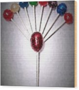 Lollipop Balloons  Wood Print