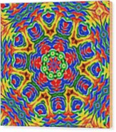 Lollipops Kaleidoscope 2 Wood Print