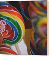 Lollipops Wood Print