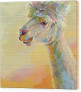 Lolly Llama Wood Print