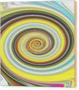 Lollypop Swirl  Wood Print