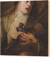 Lombard School, 17th Century Saint Catherine Of Siena Wood Print