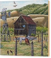 Lompa Valley Ranch Wood Print