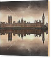 London - The Houses Of Parliament  Wood Print
