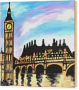 London After Eight Wood Print