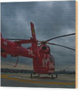 London Air Ambulance Wood Print