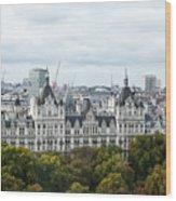 London Along The River Thames Wood Print