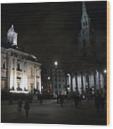 London At Night Wood Print