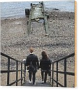 London Beach Wood Print