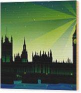 London Big Ben Wood Print by Sandra Hoefer