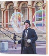 London Bubbles 4 Wood Print
