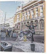 London Bubbles 8 Wood Print